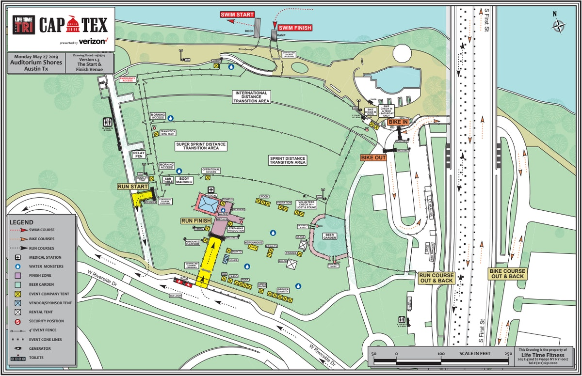 Course map for 2019 Venue Map