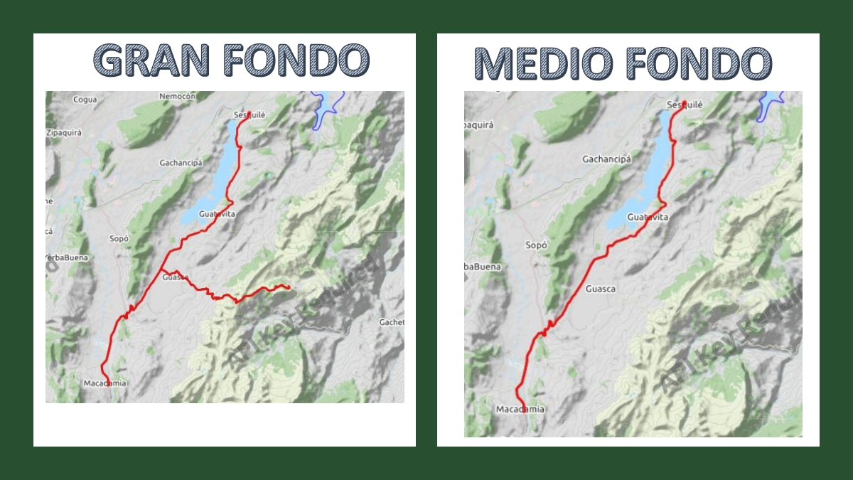 Course map for MAPA GFNY COLOMBIA 2019