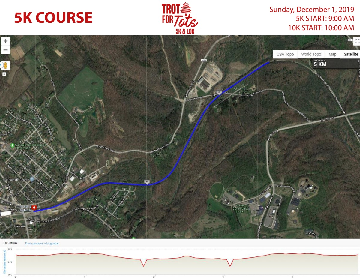 Course map for 5K COURSE