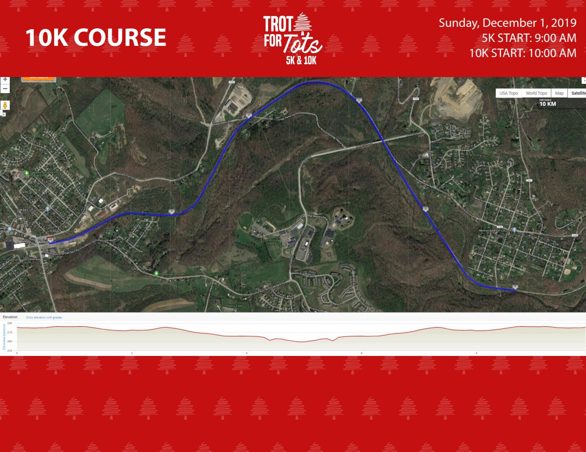 Course map for 10K COURSE