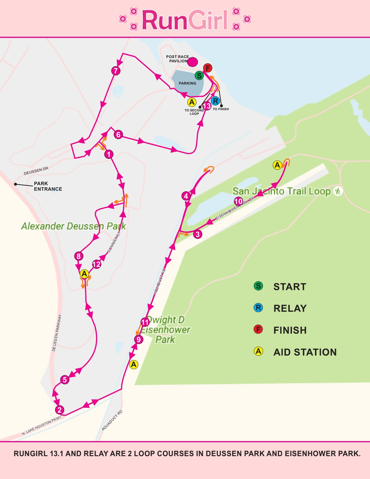 Course map for RUNGIRL 2019 COURSE MAP REVISED COURT