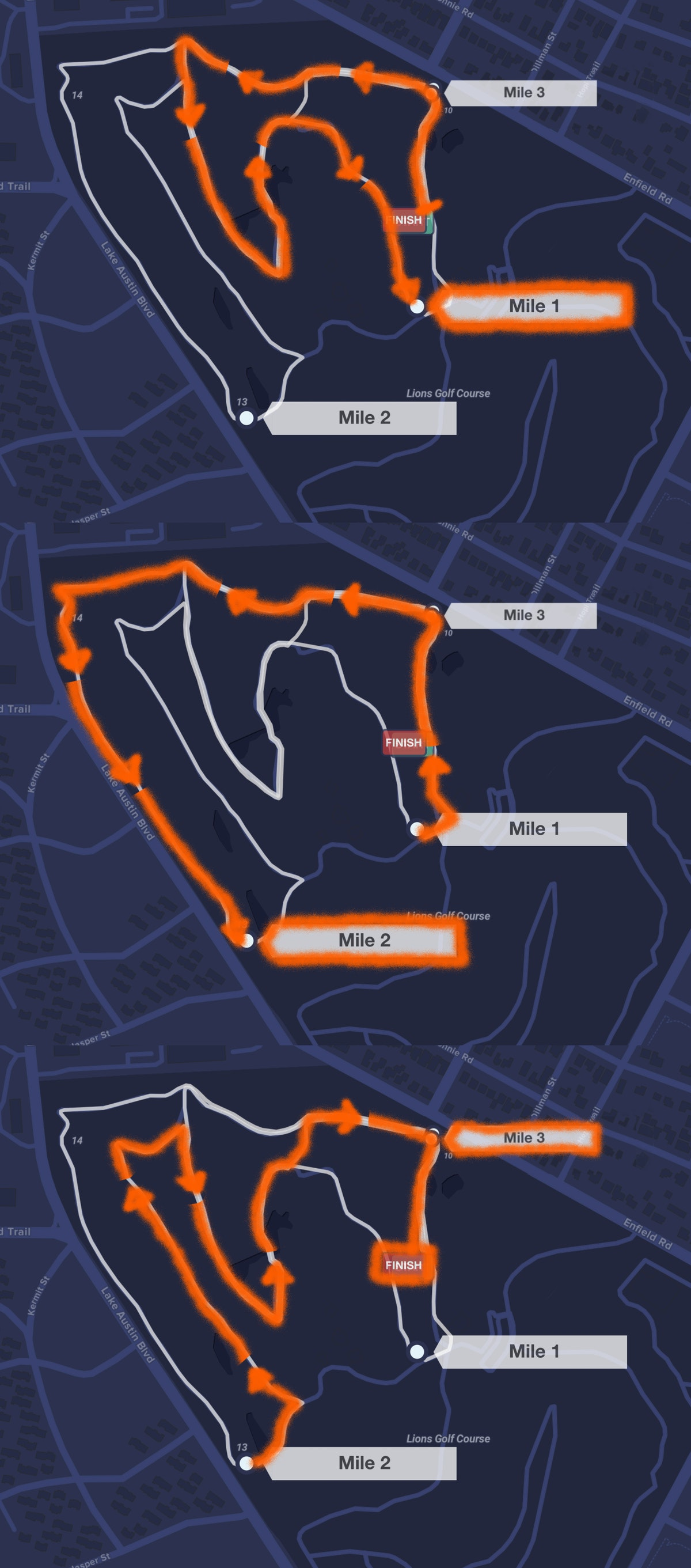 Course map for 5K