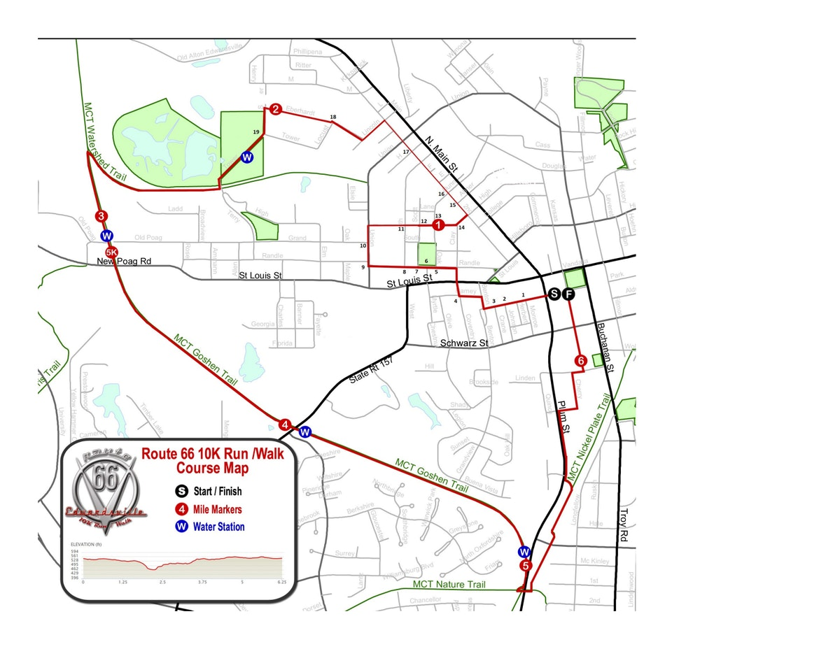 Course map for 10K Course Map