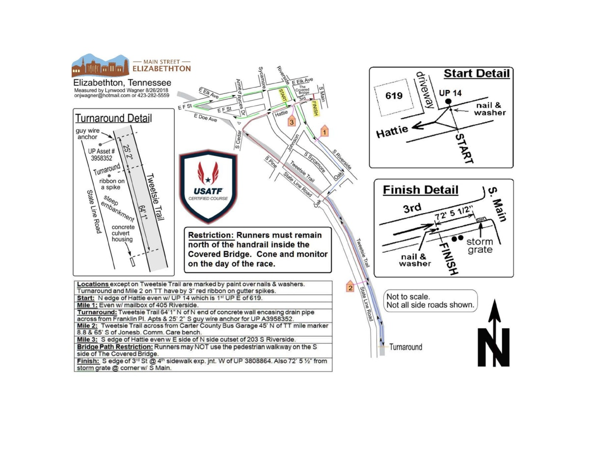 Course map for 5K Course Map