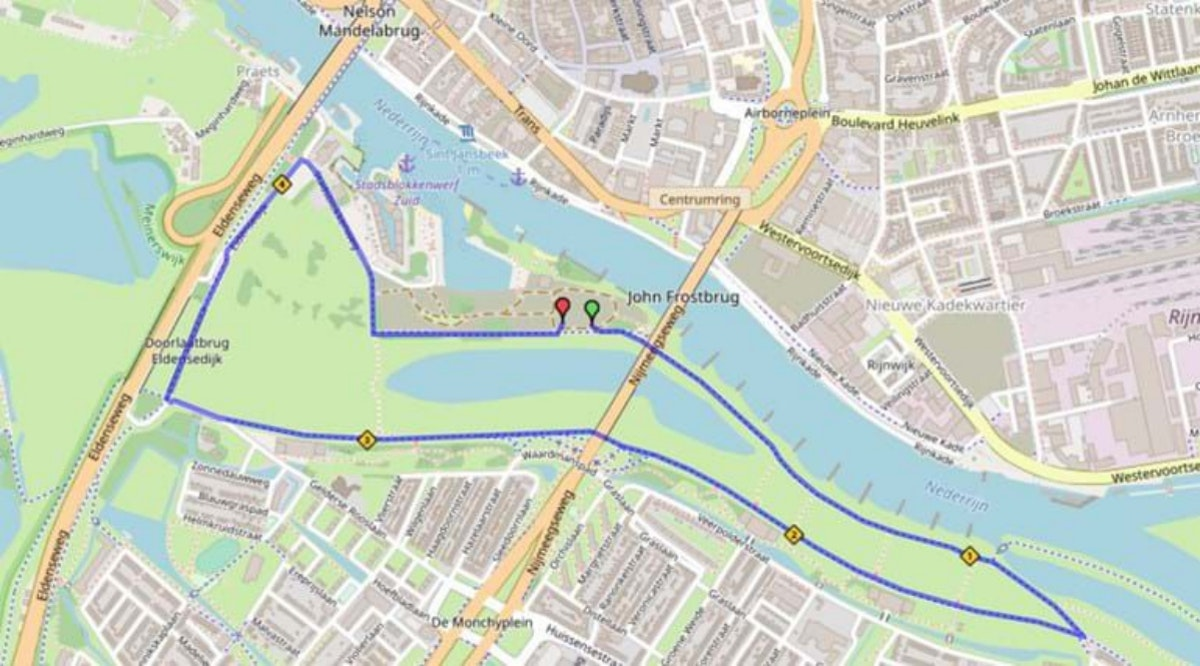Course map for 5km