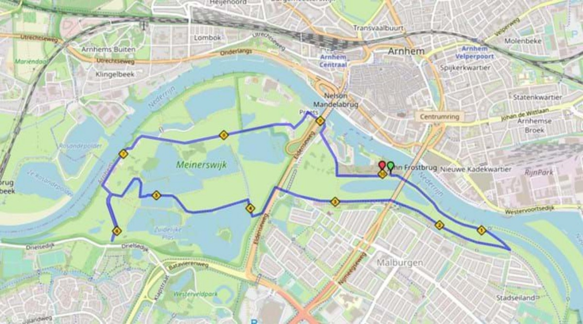 Course map for 10km