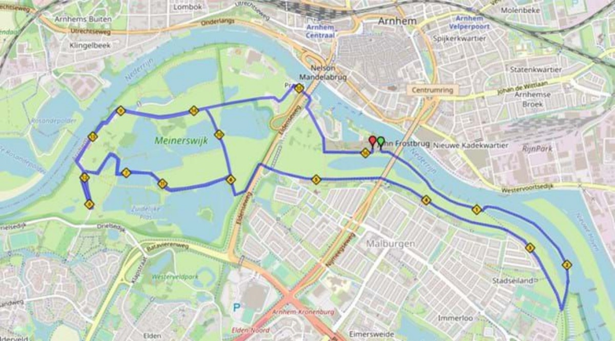 Course map for 10EM